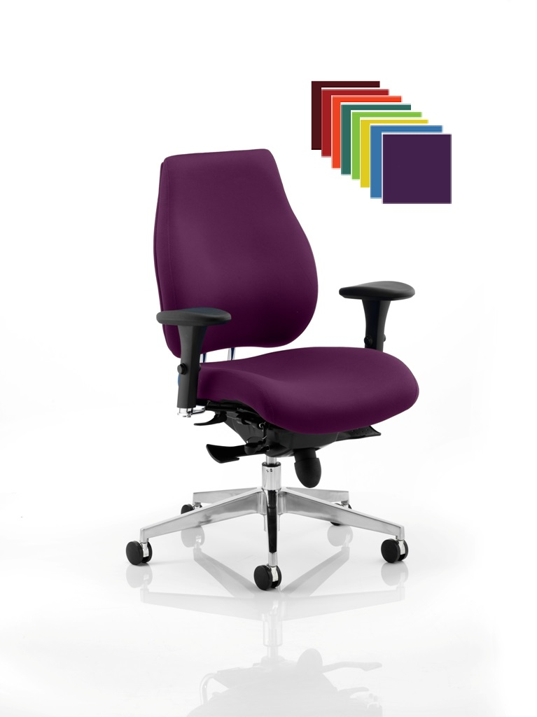 CDP0163 Plus Bespoke Fabric 24 Hour Ergonomic Chiropractor Approved Posture Executive Office Chair Seat Slide Colours