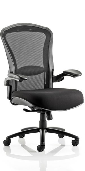 CDH0101 Large Mesh Back With Fabric Seat Heavy Duty Office Chair Has Max Weight Capacity 32stone 200kg Front Angle