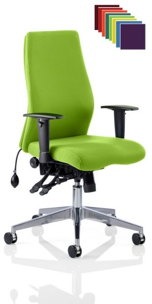 CDP0418 Bespoke Fabric Air Lumbar Posture 24 Hour Ergonomic Executive Office Chair Madura YS156 Myrhh Green