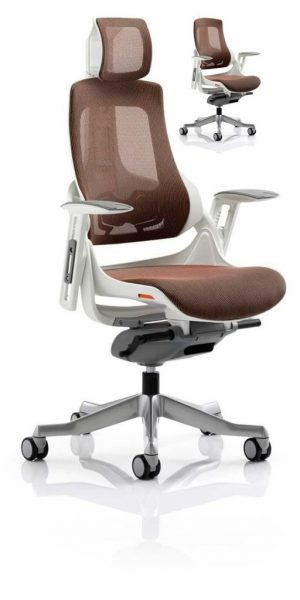 CDE0103 Mandarin Mesh Designer Executive Operator Office Chair Ergonomic Lumbar Support With Armrests And Headrest